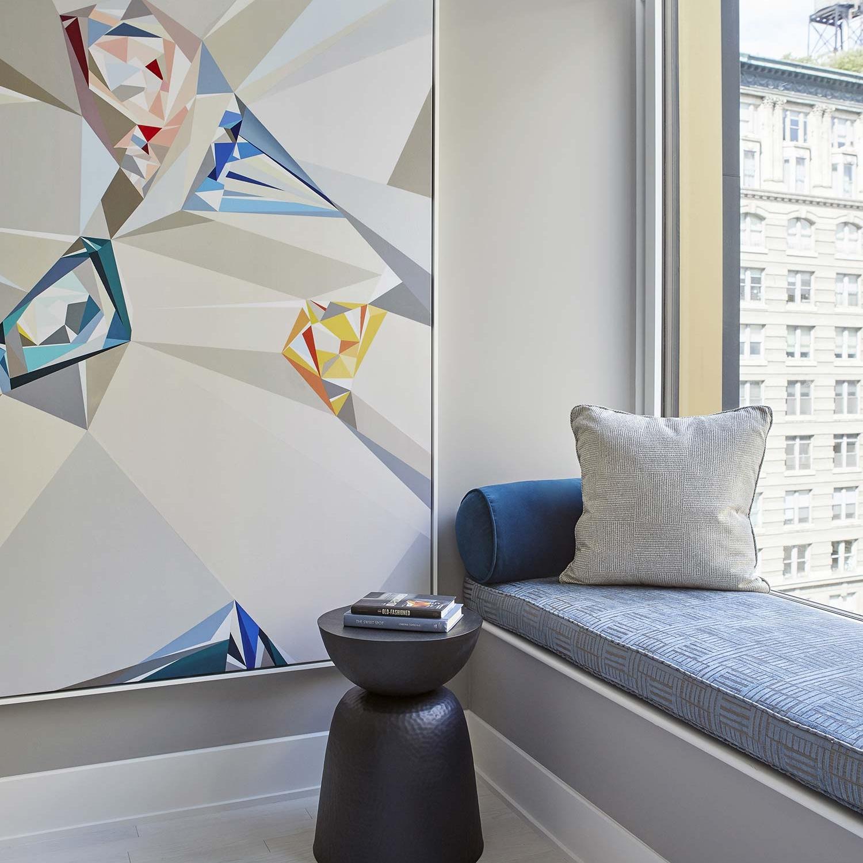 NYC apartment hallway interior design by Darci Hether New York