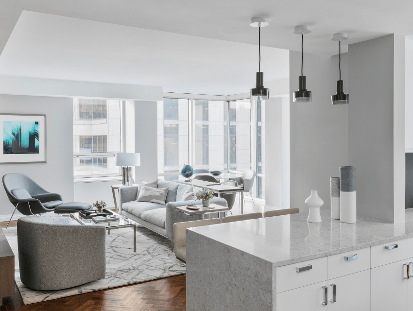 darci-hether-new-york_interior-designer_3-misconceptions-about-renovation-timelines_what-you-need-to-know_contemporary-living-room-off-kitchen-in-updated-home