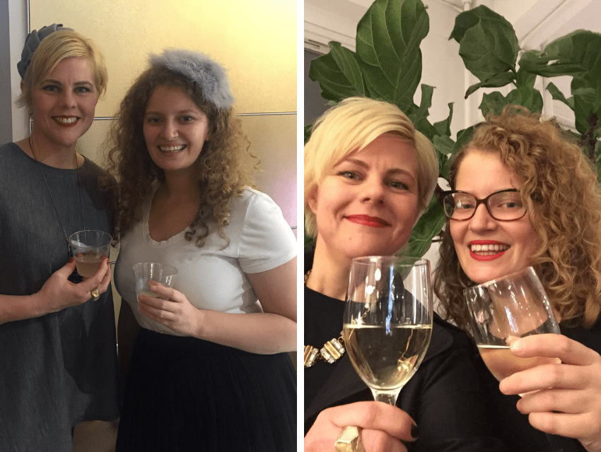 darci-hether-new-york_luxury-interior-designer_celebrating-sarah-and-a-look-back-at-10-delightful-years-of-dhny_collage-of-darci-and-sarah-toasting