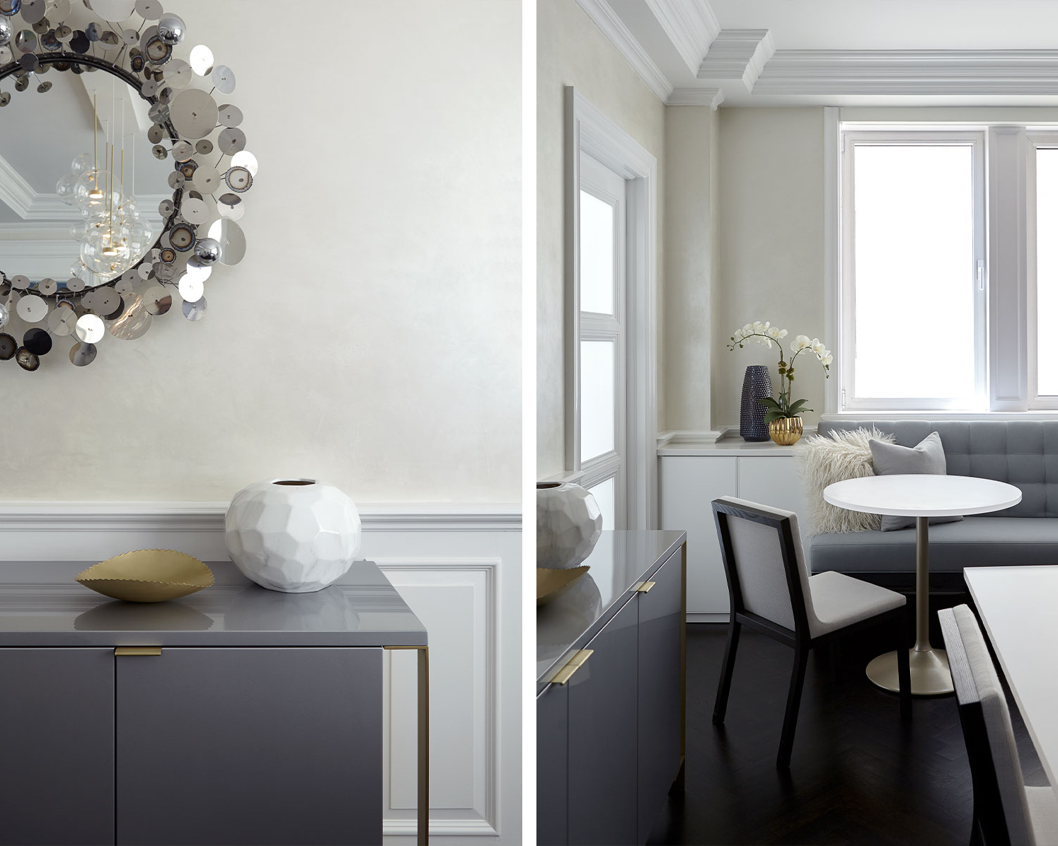 NYC apartment dining room interior design by NYC's top interior design firm Darci Hether New York