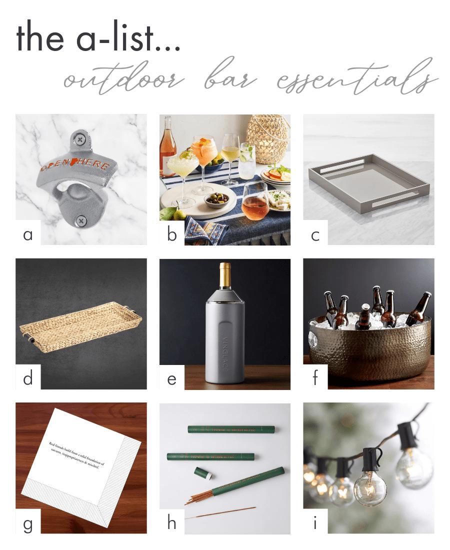 Get the Look - Darci Hether - Outdoor Bar Essentials
