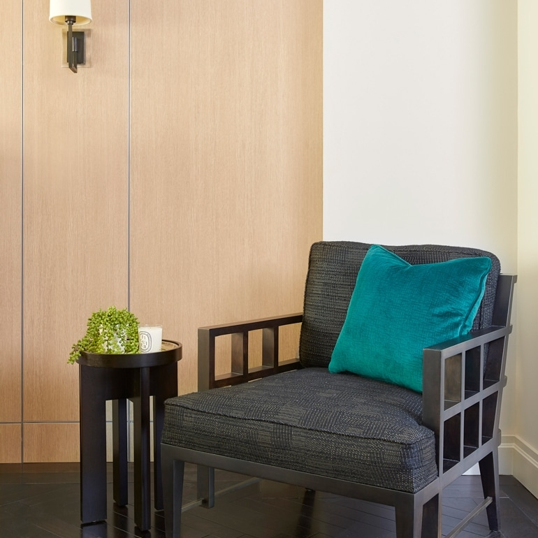 Armchair in a NYC interior design project by Darci Hether New York