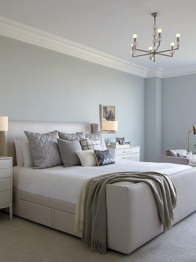 dhny bedroom design high-end cream taupe light blue restful colors for sleep
