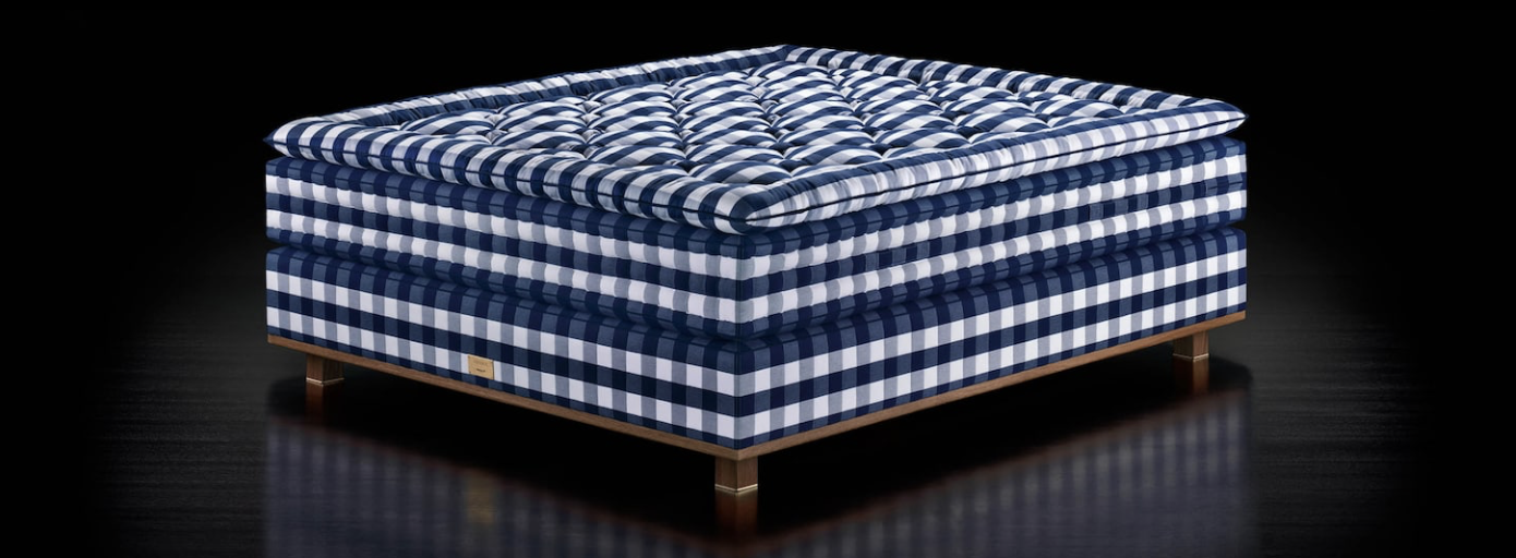 hastens mattress classic blue white check