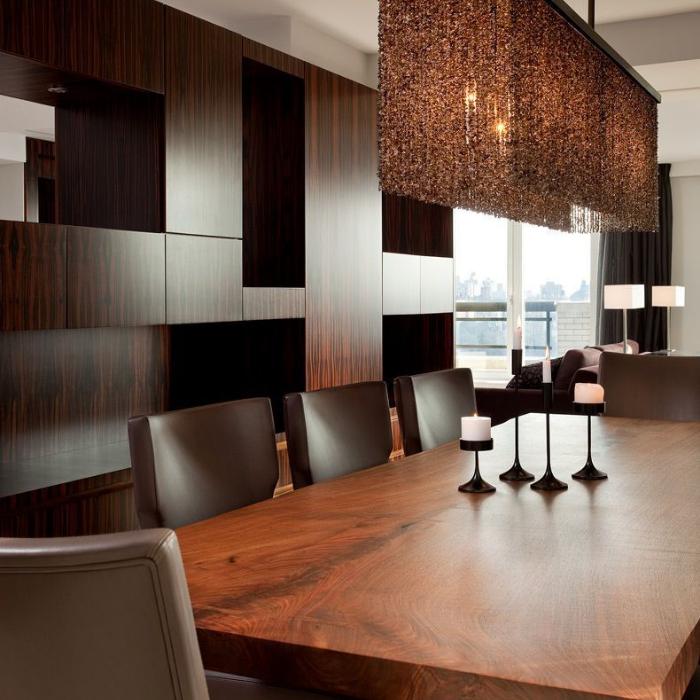 DarciHetherNY, Upper East Side, Interior Design, Refined, Luxury, Moody Dining, Decorative Lighting