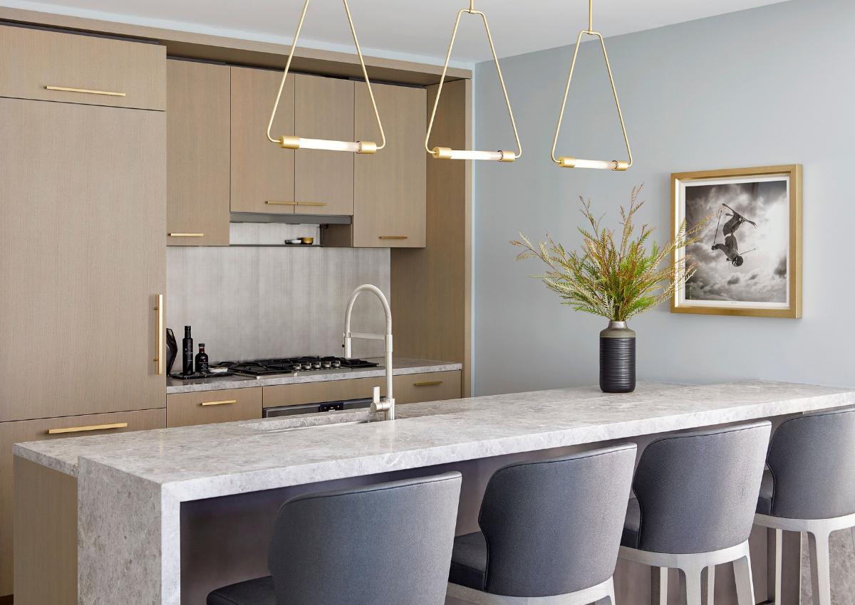 DarciHetherNY, Upper East Side, Interior Design, Refined, Luxury, Kitchen, Modern Pendant Lighting